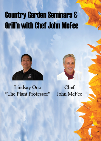 Country Garden Seminars & Grilling with Chef John McFee, pictures of Lindsay Ono and John McFee