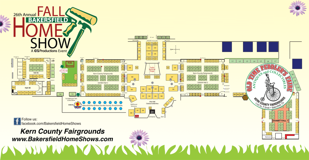 Bakersfield Fall Home Show map at Kern County Fair Grounds