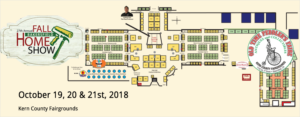 Event Map for 2018 Bakersfield Fall Home Show