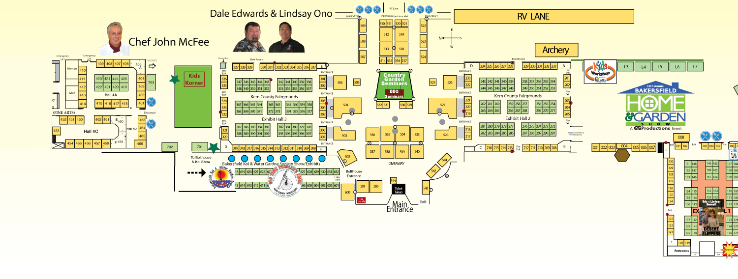 Bakersfield Home Show Spring 2020 Event Map