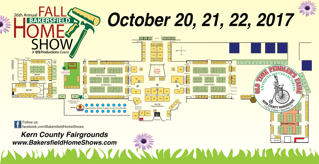 2017 Bakersfield Fall Home Show Site Map