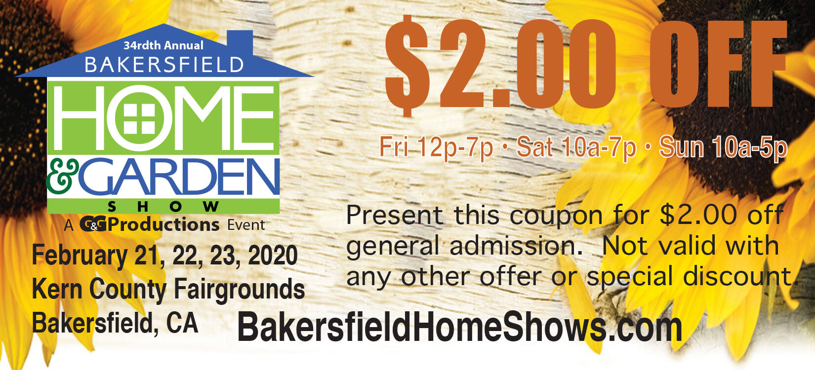 2020 Bakersfield Home Show discount coupon